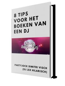 Gratis e-book 8 tips voor het boeken van een DJ Disco Royaal